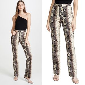 I.AM.GIA brandy snakeskin print high waist pant
